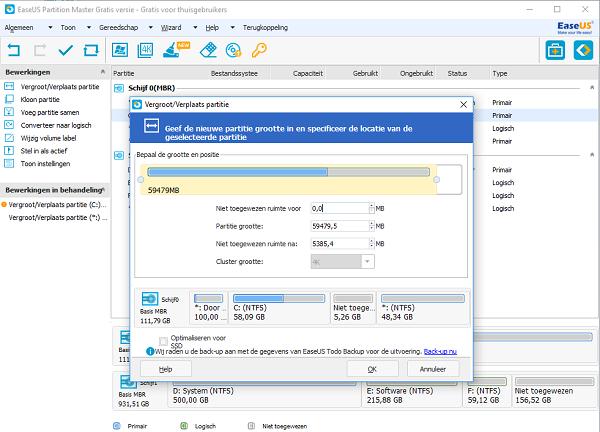 Actieve Partitie Wijzigen.Partitie Vergroten C Schijf Uitbreiden In Windows Server
