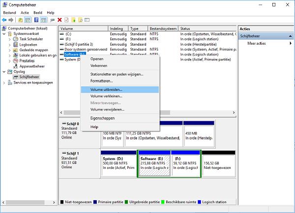 Partitie Vergroten Windows 8.Partitie Vergroten C Schijf Uitbreiden In Windows Server
